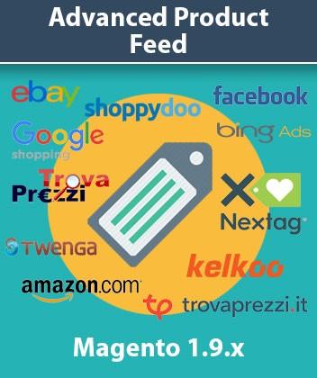 Estensione Magento Advanced Product Feeds (Trovaprezzi - Google Shopping - Facebook - Kelkoo)