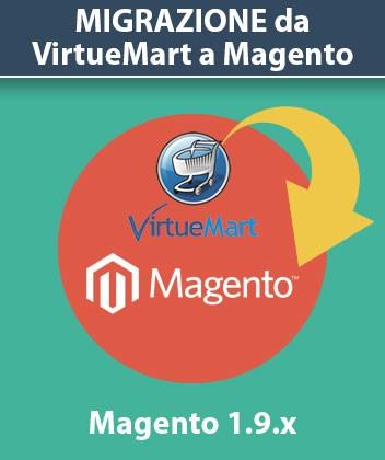 Servizio Migrazione da VirtueMart a Magento